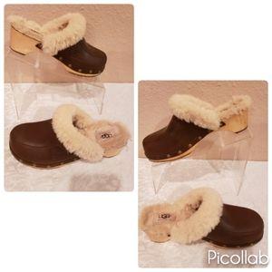 Ugg Australia Kalie Sheepskin Studded Clogs